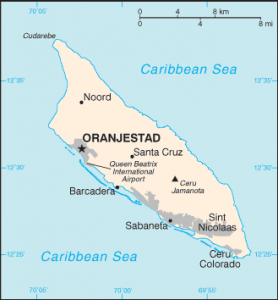 This is a map of the island of Aruba. Ask a Concierge Realty specialist about traveling tips to Aruba.