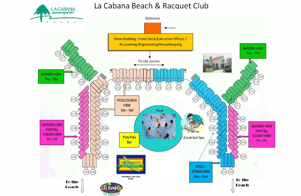 Resort map for The La Cabana Beach and Casino